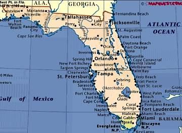 Florida Map Gulf Coast World Map 07